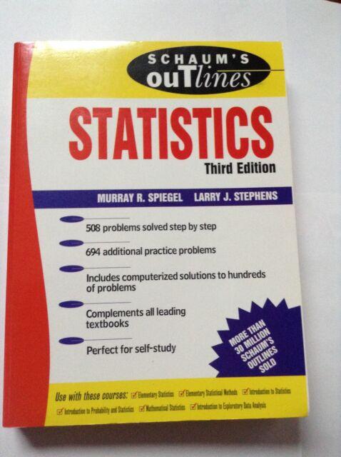 Schaum S Outline Schaum S Outline Of Statistics Theory And