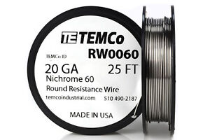 TEMCo-Nichrome-60-series-wire-20-Gauge-25-Ft-Resistance-AWG-ga