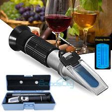 Beer Fruit Juice Wine Sugar Test 032 Brix Wort Specific Gravity Refractometer