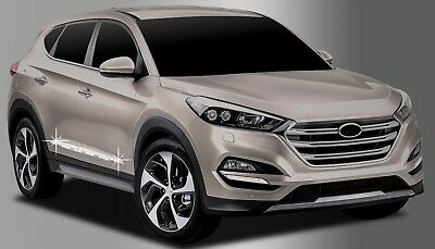zubeh r f r hyundai tucson 2015 2019 tuning chrom seitenleisten t rleisten ebay. Black Bedroom Furniture Sets. Home Design Ideas