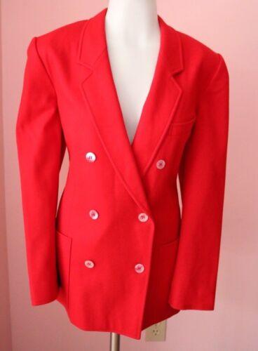 ESCADA 40 10 Large Luxury Red Wool Womens Designer