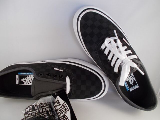 09e89c1e6bb1 VANS Authentic Pro Checkerboard Black Suede UltraCush Shoes Men s Size 8.5  NIB