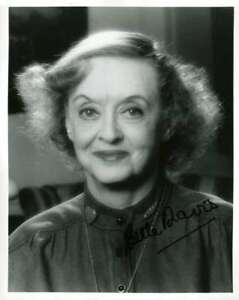 BETTE-DAVIS-PSA-DNA-Coa-Hand-Signed-8x10-Photo-Autograph-Authentic