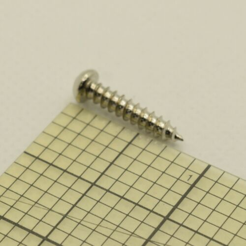 Chrome Steel Guitar Bridge Screws 3.5mm x 18mm