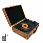 Pyle PVTTBT6BR Bluetooth Classic Vinyl Record Player Turntable With Speakers