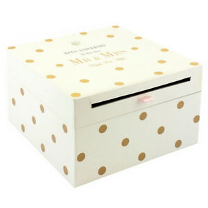 Mr Mrs Wedding Card Collection Box Gift Accessories Letters Cards