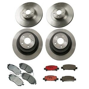 Details about Front & Rear Brake Rotors And Pads Kit Brembo / Akebono Fits:  Subaru Outback