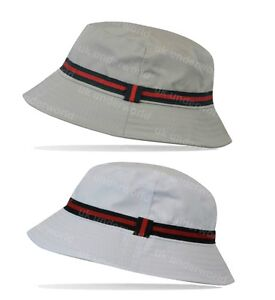 Mens Ladies Designer Colour Stripe Bucket Hat Sun Holiday Beach ... 8778d012f8f