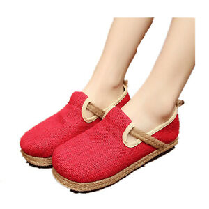 Women-039-s-Casual-Shoes-Loafers-Boat-Shoes-Flat-Heel-Weave-Espadrilles-Sneakers