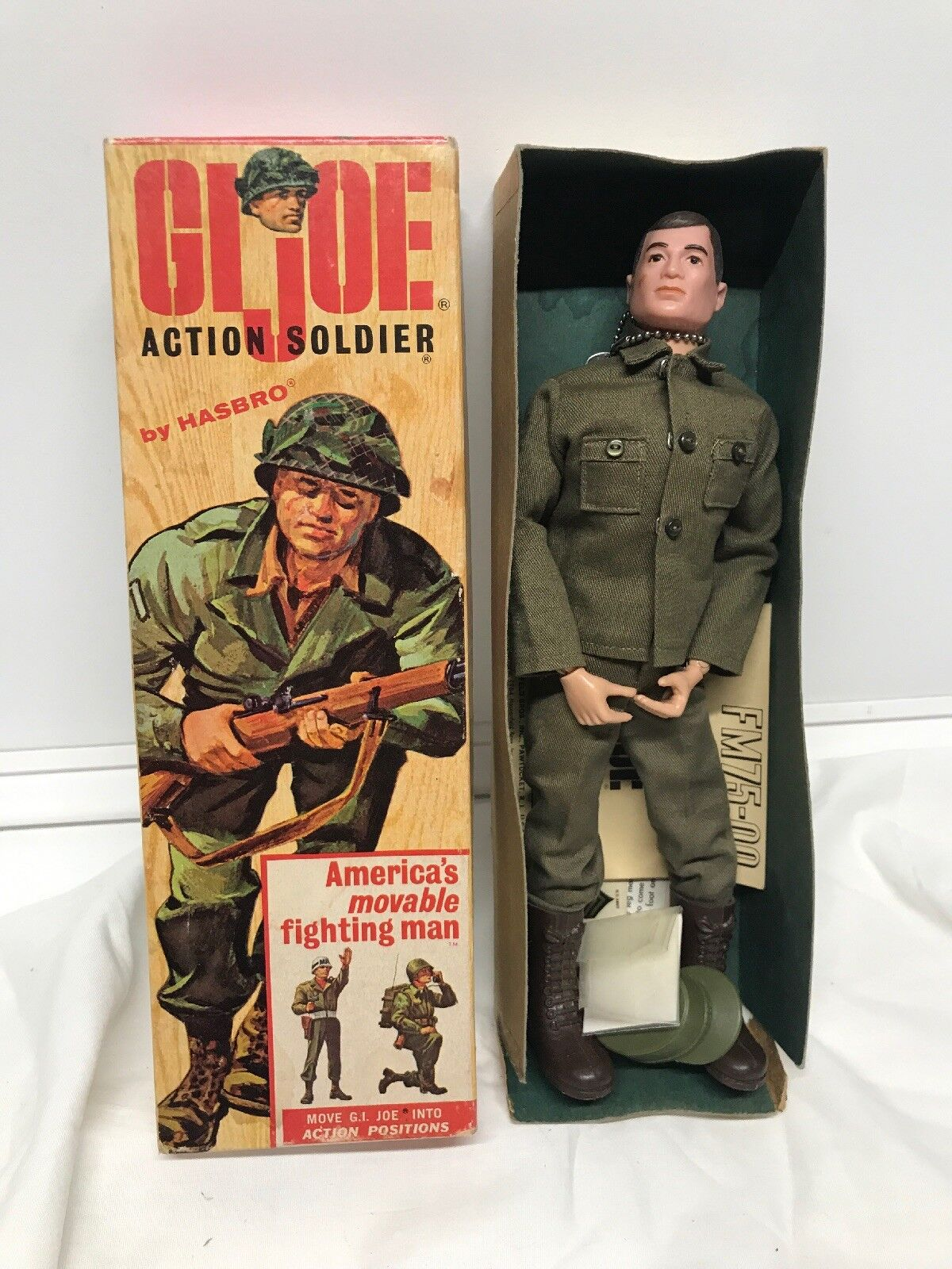 Vintage Hasbro 1964 Action Soldier GI Joe with Box All Original