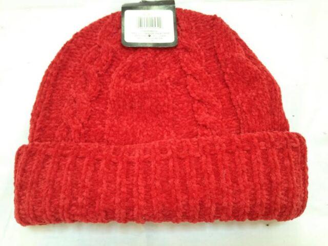 85463335212 Gold Medal 100 Acrylic One Size Red Winter Wear Hat Cap Fleece Crocheted  for sale online