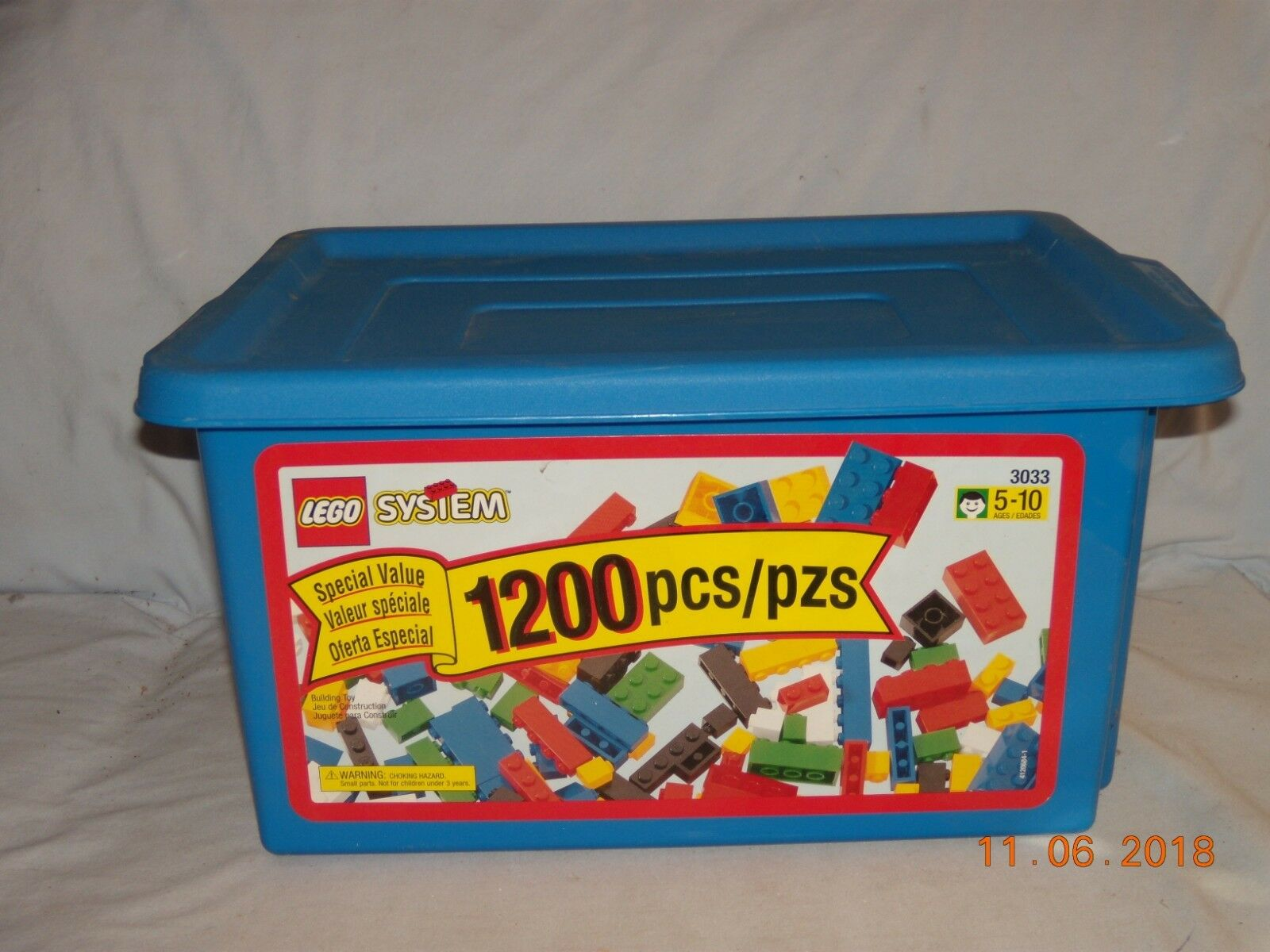 LEGO  3033 Creator 1200 PC blu Tub - Brand Nuovo - Extremely Rare