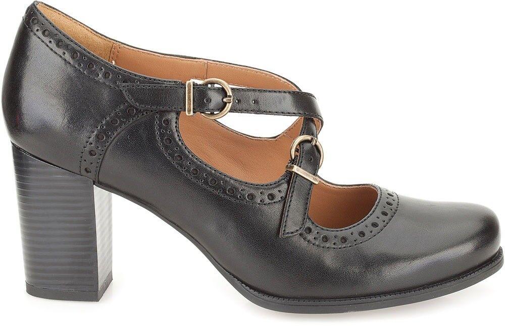 Clarks Ladies Mary Jane shoes Ciera Sea Black Leather UK 6.5