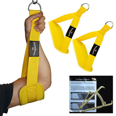 Muscolare Addominale, Cinghie Bene-blaster-sling Giallo + Grasso Corporeo Messzange Nuovo-laufen, Gut-blaster-slings Gelb + Körperfettmesszange Neu It-it Long Performance Life