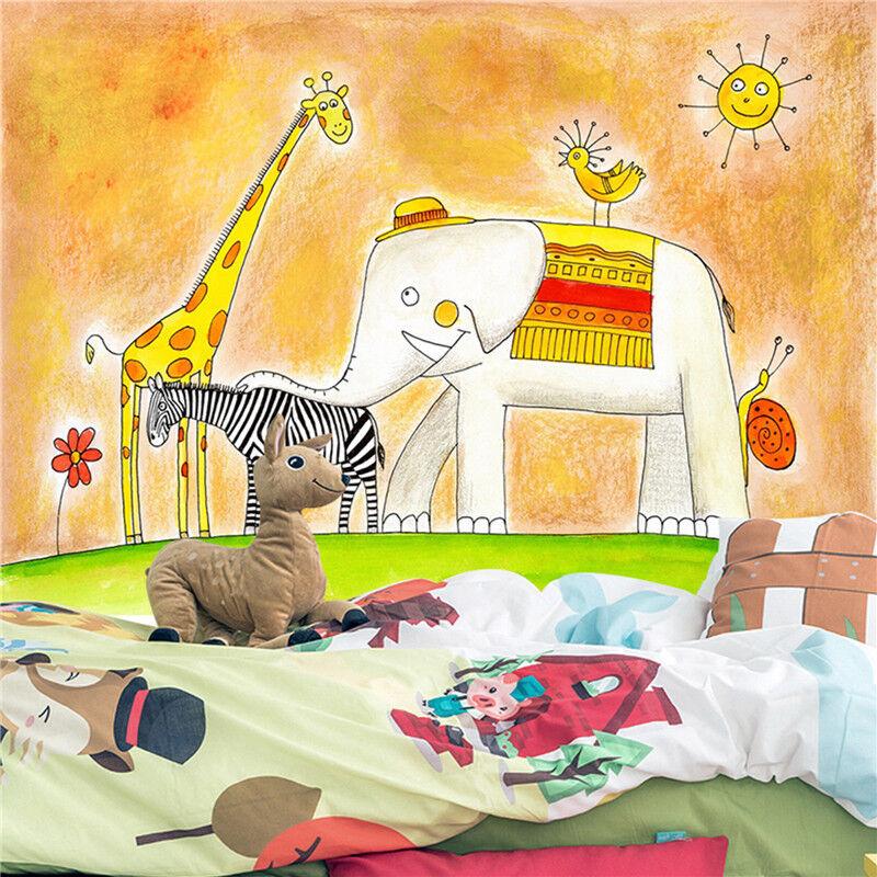 3D Gemalter Elefant Kind 8783 Tapete Wandgemälde Tapeten Bild Familie DE Lemon