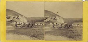 Jersey UK Canale Foto Stereo Vintage Albumina Ca 1865