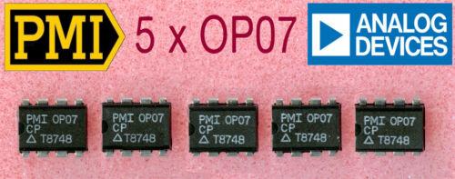 wurde später von Analog übernommen 1A-Qualität 5 x  OP07 präzisions OPV v PMI