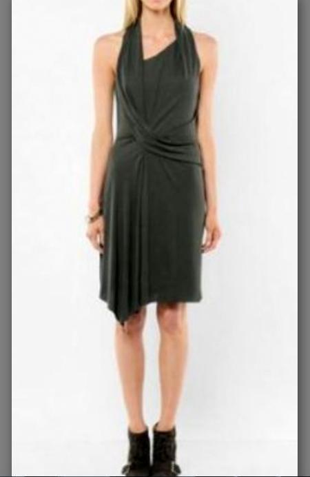 400 NWT Helmut Lang Vortex Deep Cowl Dress Size M GORGEOUS