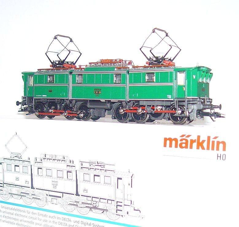 Marklin AC HO 1 87 German DR AEG BR E91 ELECTRIC LOCOMOTIVE verde MIB RARE