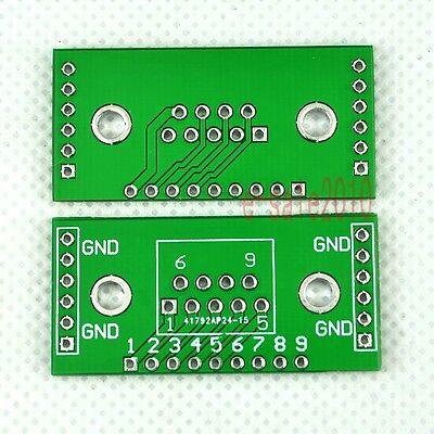 5pcs NEW DIY DB9 DR9 to DIP Adapter PCB Board Converter UART-RS232 Convertor F19