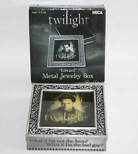 TWILIGHT Movie EDWARD VAMPIRE Pewter Metal Jewelry Box Quote Hero