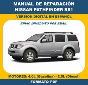 MANUAL DE TALLER NISSAN PATHFINDER R51 2005-2012 ESPAÑOL