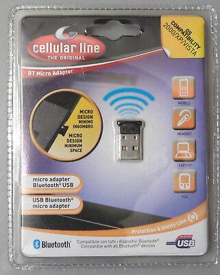 Frugale Prl) Micro Adapter Design Usb Bluetooth Adattatore Senza Fili Os 2000 Xp Vista
