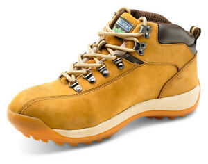 b930e3e7bf7 Details about Click Traders Brown Nubuck Leather Chukka Work Safety Boots  Steel Toe Cap Sole