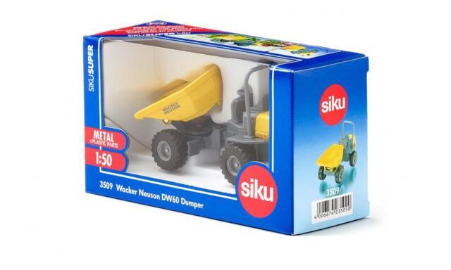 Siku Super 3509 1:50 Wacker Neuson DW60 All-terrain Tipper Dumper Model