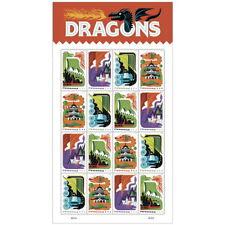 USPS New Dragons Pane of 16