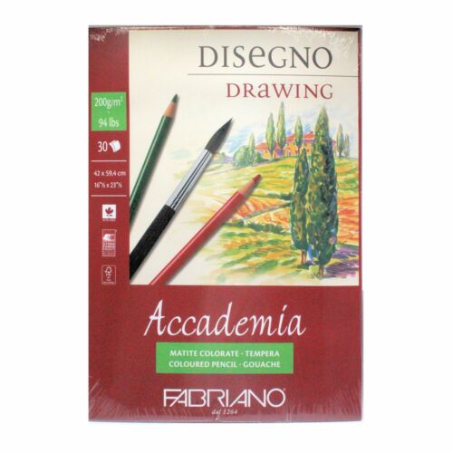 Fabriano Accademia A2 200g Drawing Pad 30 Sheets glue bound short Edge