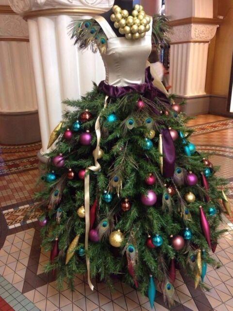 Female mannequin torso (no Christmas tree/cloth included), black Dress form-L03