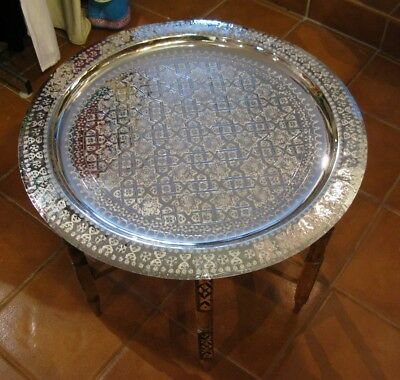 End Table Moroccan Silver Tray