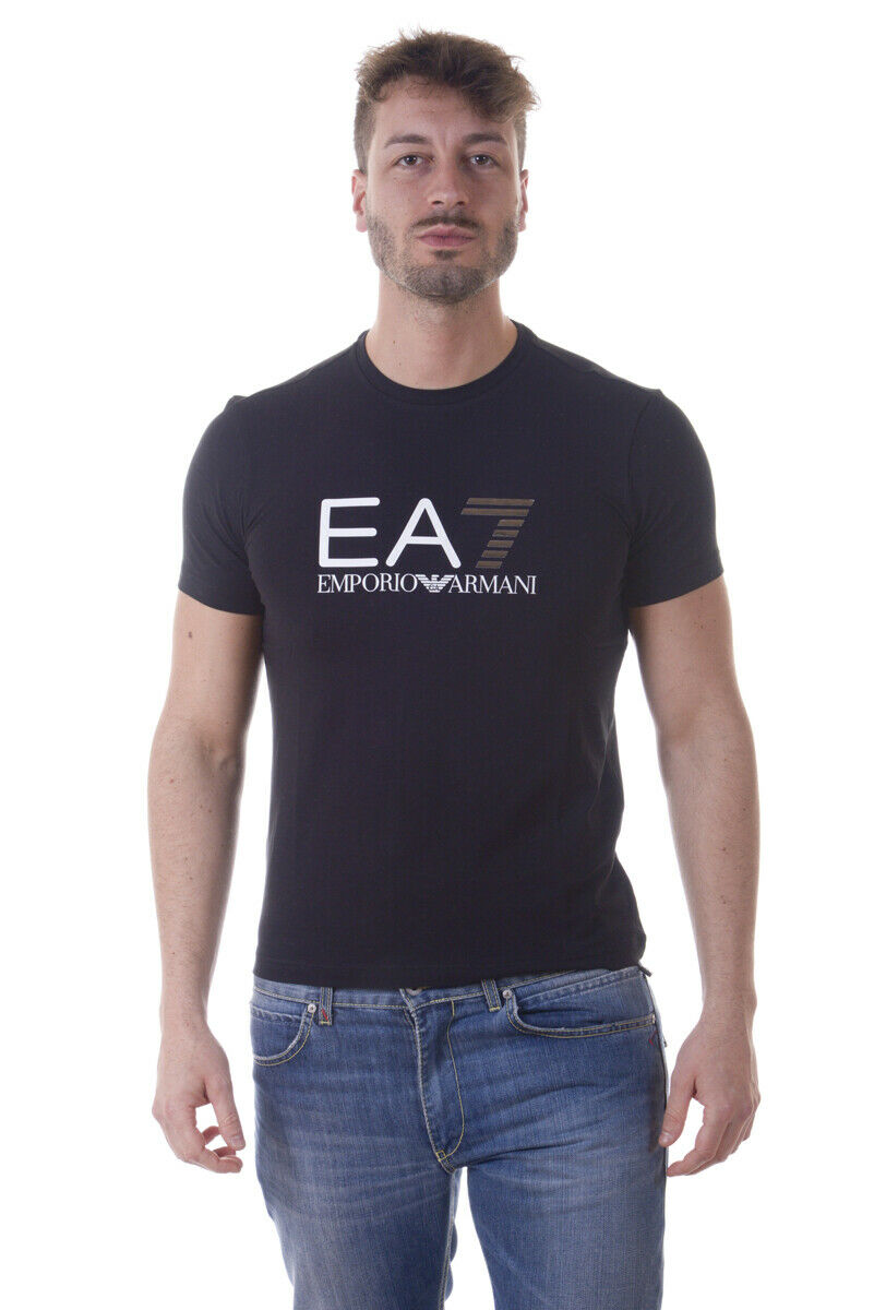 Emporio Armani EA7 T Shirt Sweatshirt Man Black 3YPTF9PJ03Z 1200 Sz M MAKE OFFER