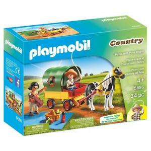 Playmobil-Country-Picnic-With-Pony-Wagon-Building-Set-5686-NEW-Toys-Kids