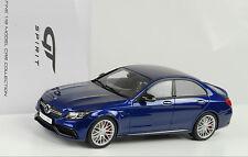 2015 Mercedes-Benz C-Class C63 AMG S sedan blau metallic 1:18 GT Spirit ZM044