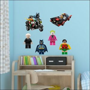 Batman-Movie-Lego-Charactors-Wall-Sticker-Transfer-Individual-Full-Set-6-Decal