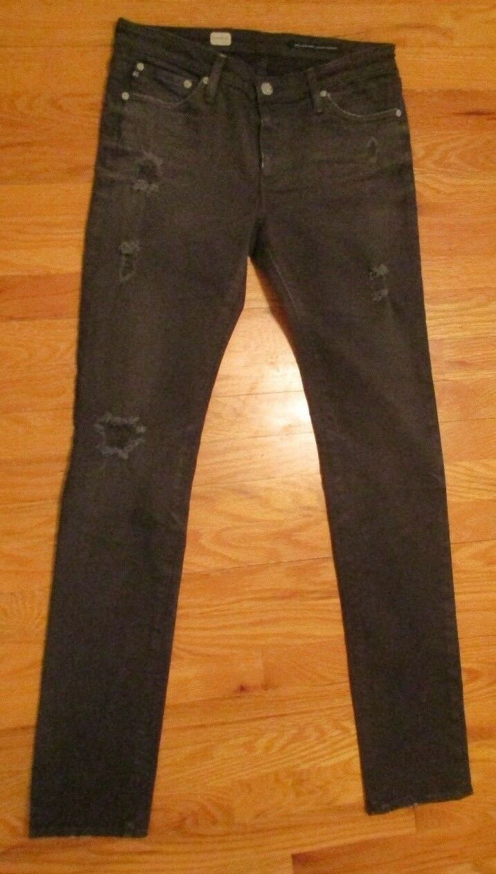 AG Adriano goldschmied Premiere Skinny Straight Distressed Jeans Size 28R