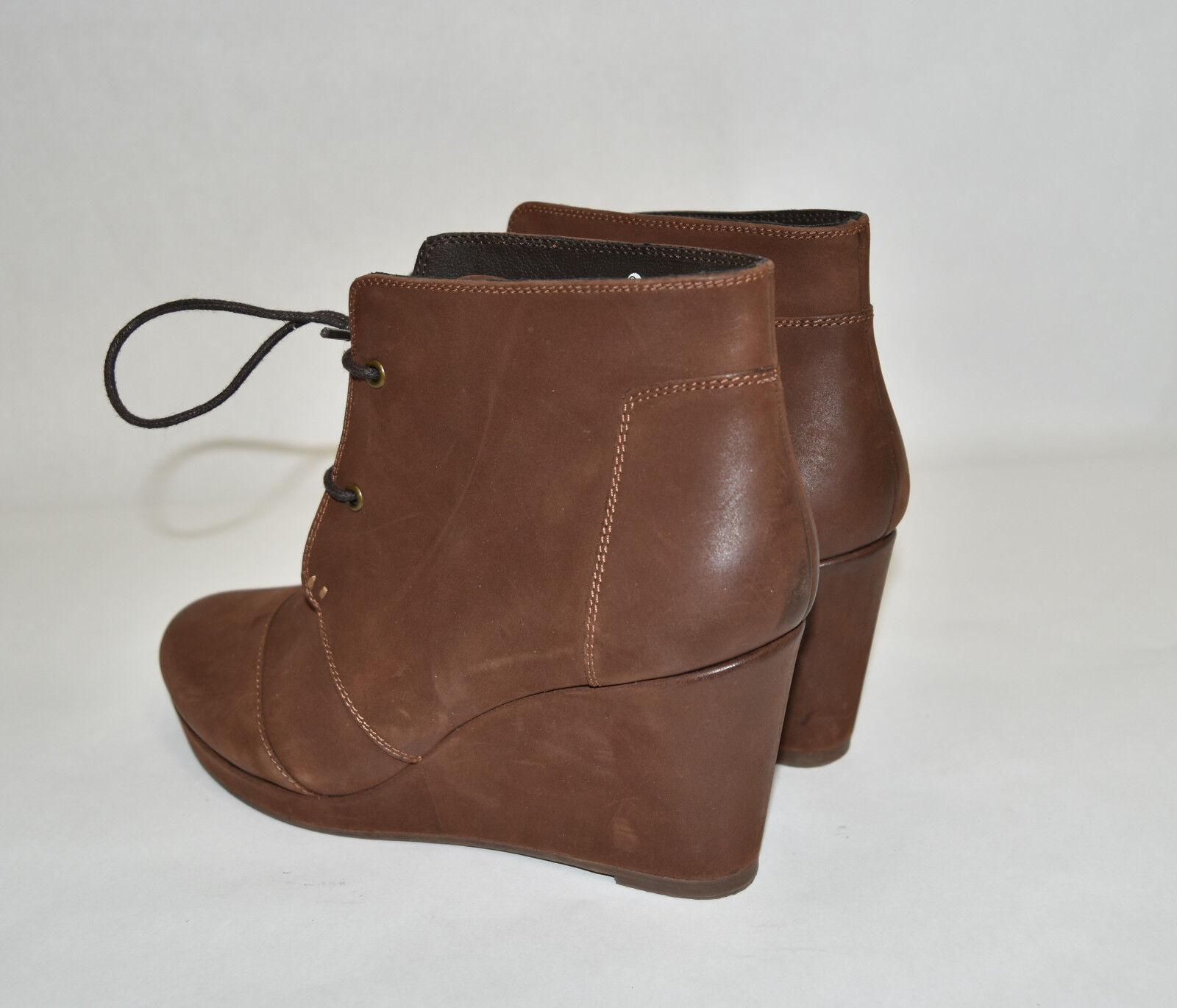 New  Blondo Paige Waterproof Wedge Stiefelie Stiefelie Stiefelie braun Nubuck Suede  Platform Größe 7.5 048a57