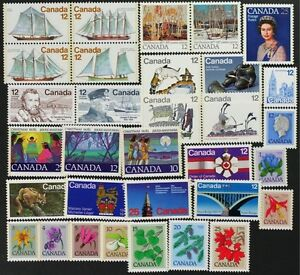 CANADA-Postage-Stamps-1977-Complete-Year-Set-collection-Mint-NH-See-scans