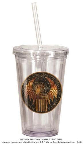 Fantastic Beasts And Where To Find Them MACUSA Logo Acrylic 18 ounce Travel Cup