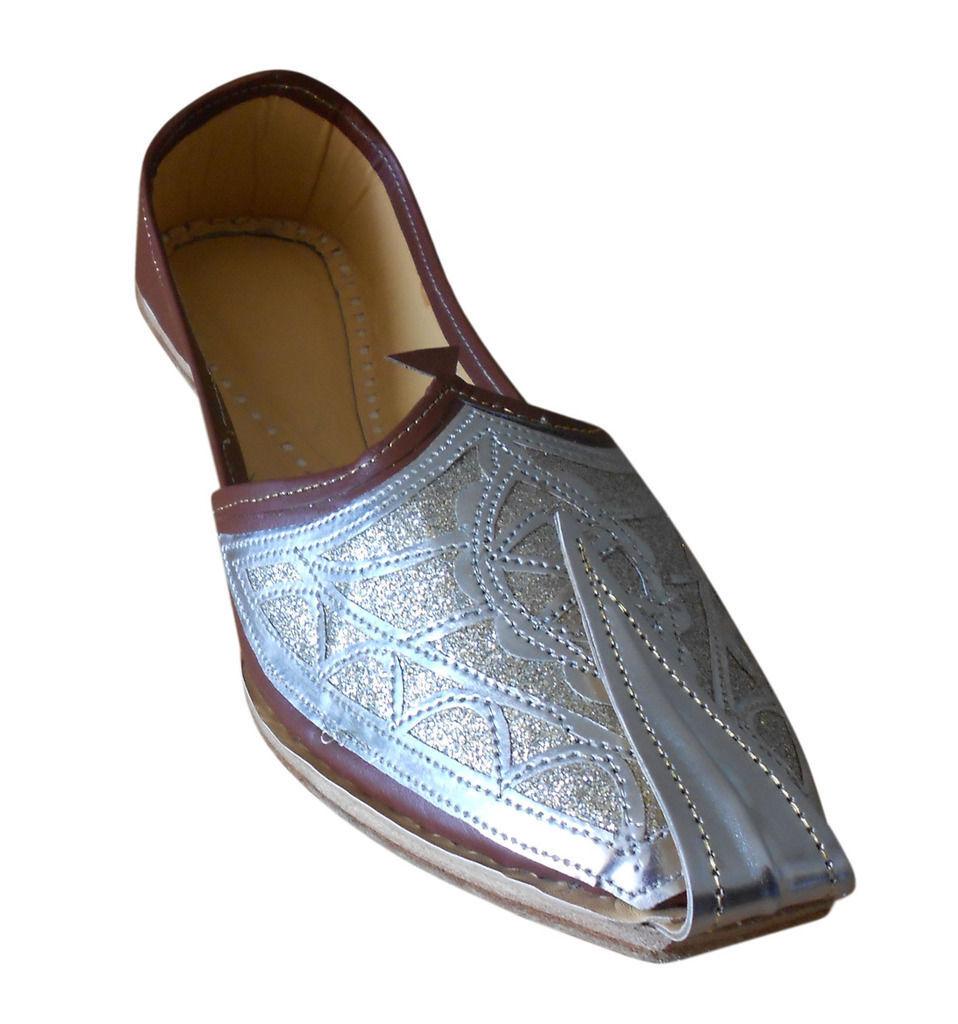 Men shoes Indian Handmade Brown Khussa Flats Loafers Jutties