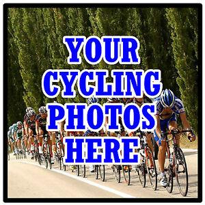 Sous-verres personnalisés-propre vélo photo's - Set de 4 sous-verres - Cadeau-Neuf  </span>