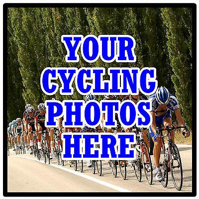Gentile Personalizzata Coasters-proprio Ciclismo Photo's - Set Di 4 Sottobicchieri-regalo-nuovo- Colori Fantasiosi