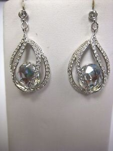 Image Is Loading Megan Moonlight Crystal Earrings Swarovski Jewelry Retired 1062665