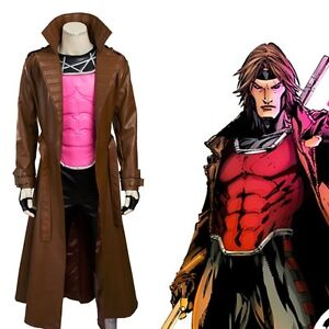 Image is loading The-X-MEN-Series-Gambit-Remy-Etienne-Cosplay-  sc 1 st  eBay & The X-MEN Series Gambit Remy Etienne Cosplay Costume Coat/vest/pants ...