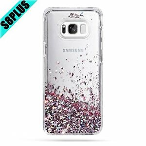 outlet store a2c9d 7307b Details about Samsung Galaxy S8 Plus Case Protective Cover Liquid Floating  Sparkle Glitter