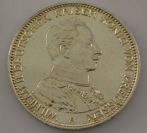 3 Mark Silber Silbermünze Wilhelm Ii Deutscher Kaiser König Von