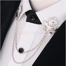 Chain Tassel Neck Clip Shirt Dress Shirt Collar Tip Brooch Pin Jewelry