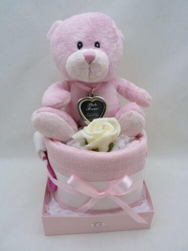 Premature small size boy or girl Nappy Cake photo key ring gift new baby shower